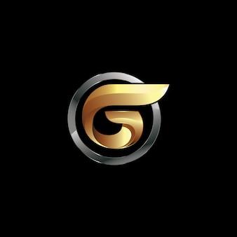 ベクトルの文字gロゴデザイン