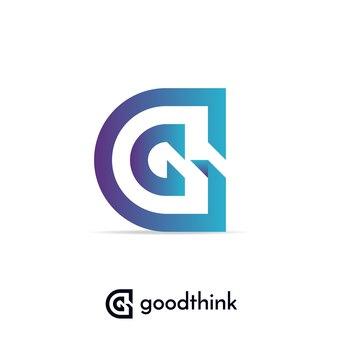 편지 g 로고 디자인 서식 파일