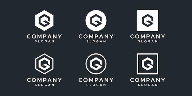 文字gロゴデザインベクトル