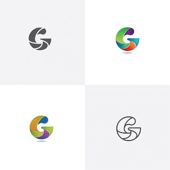 Letter g logo design with different style
