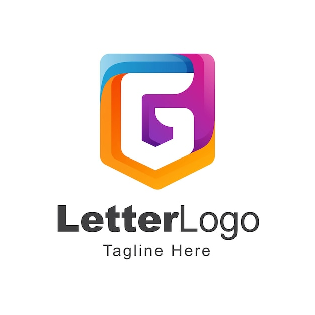 편지 g 로고 디자인
