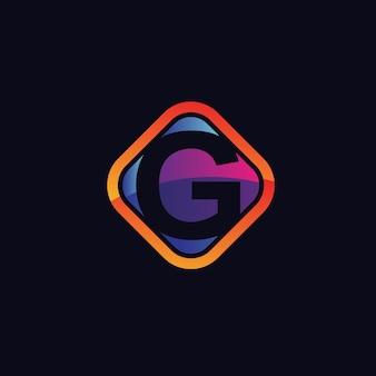 Буква g дизайн логотипа