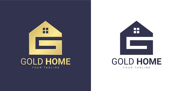 The letter g logo has a real estate concept Premium Vector