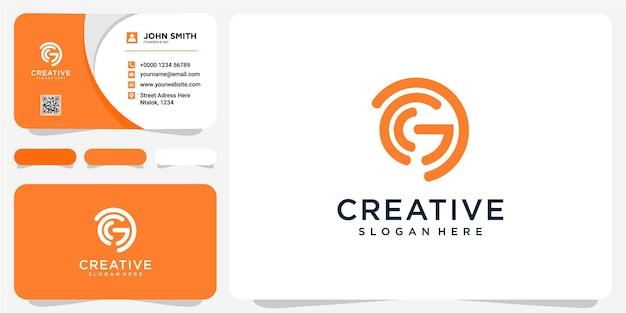 편지 g 로고 아이콘 평면 및 벡터 디자인 서식 파일. g 문자 초기 로고 디자인 컨셉