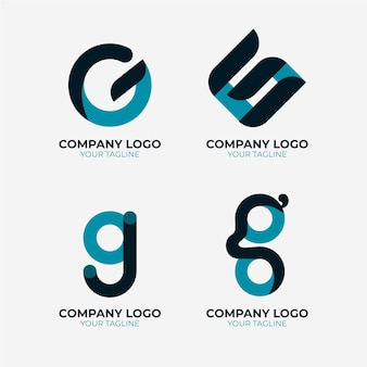 Letter g logo template collection