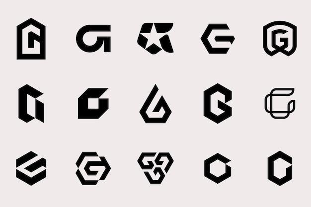 Letter g logo type template