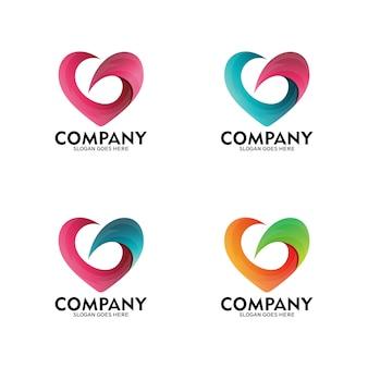 Letter g love vector logo, heart symbol logo. simple love/heart design logo. love/heart modern design.