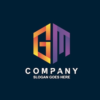 Letter g and m logo design