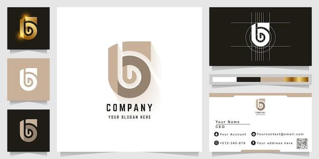 Буква g или логотип монограммы bg с дизайном визитной карточки