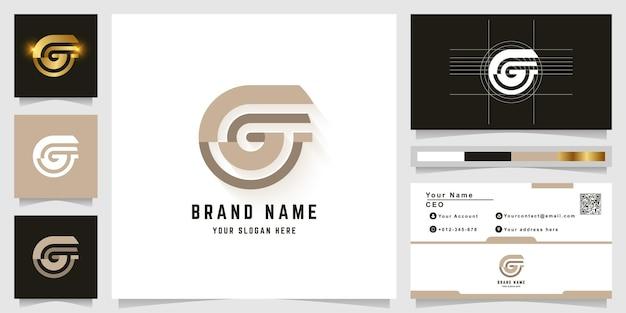 명함 디자인의 letter g 또는 gg 모노그램 로고
