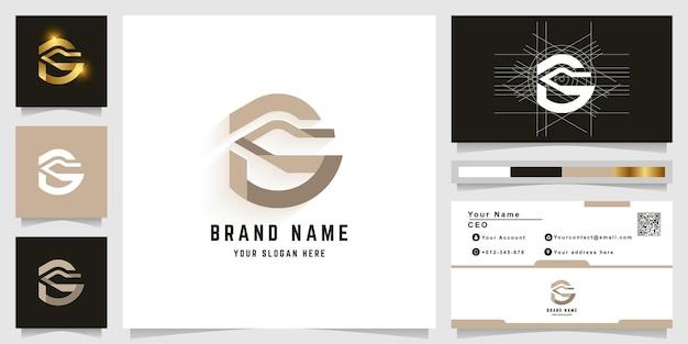 名刺デザインの文字gまたはsモノグラムロゴ