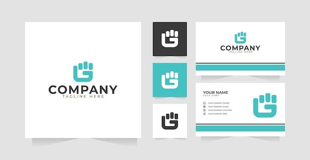Вдохновение для дизайна логотипа с буквой g и визитной карточки
