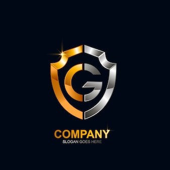 Letter g shield logo design