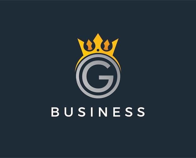 Letter g template logo luxury letter with crown