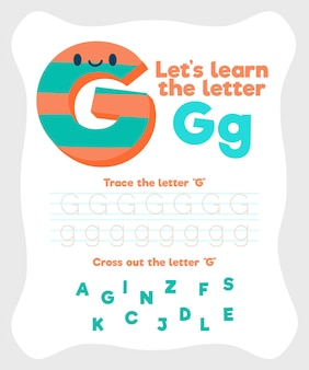 Letter g worksheet template