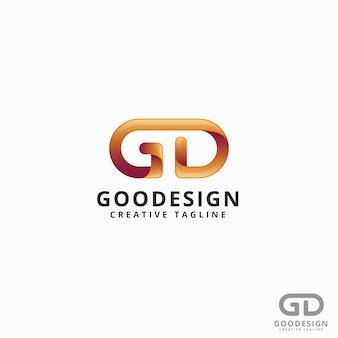 Хороший дизайн - letter gd logo