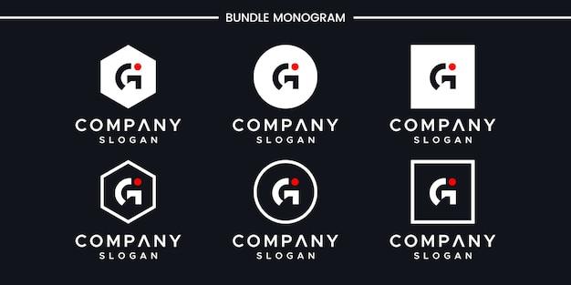 Письмо gi дизайн логотипа