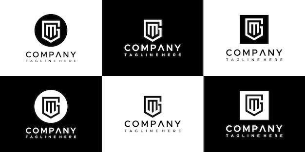 편지 gm 세트 로고 디자인