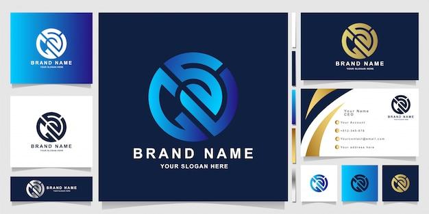 Шаблон логотипа письмо gsv с дизайном визитной карточки