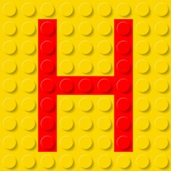 Letter h in construction kit.