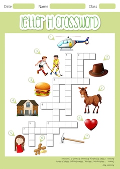 Letter h crossword template