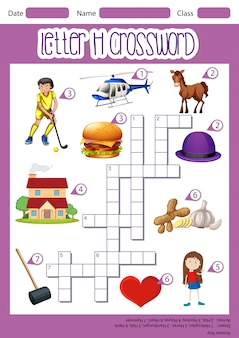 Letter h crossword template