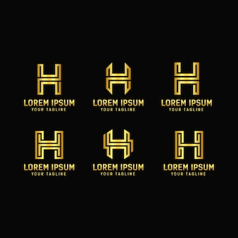 Letter h design logo template