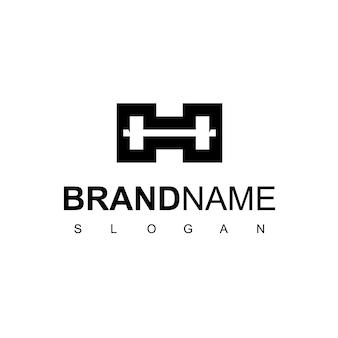 Буква h фитнес и тренажерный зал логотип