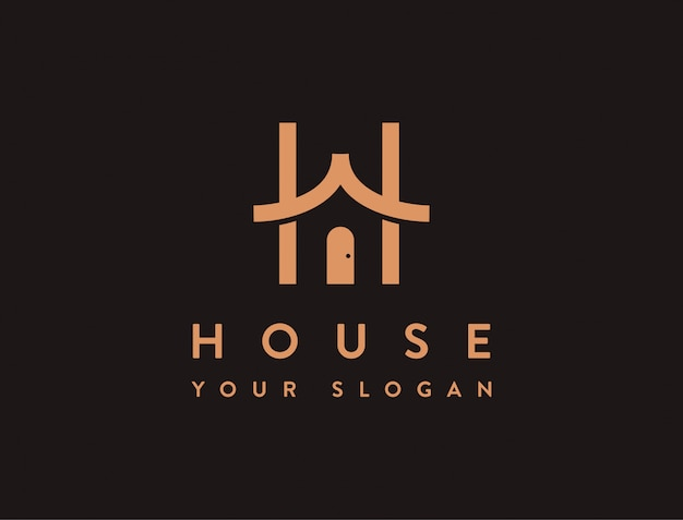 Letter h for house logo icon template