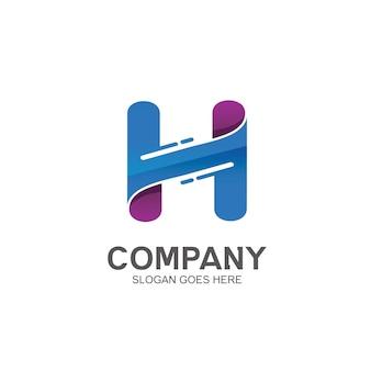 Letter h initial logo design