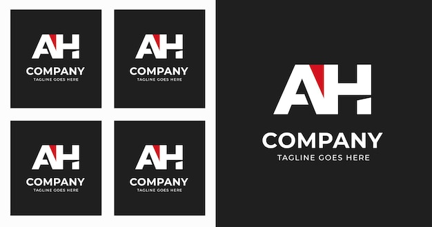 Letter a h logo design template