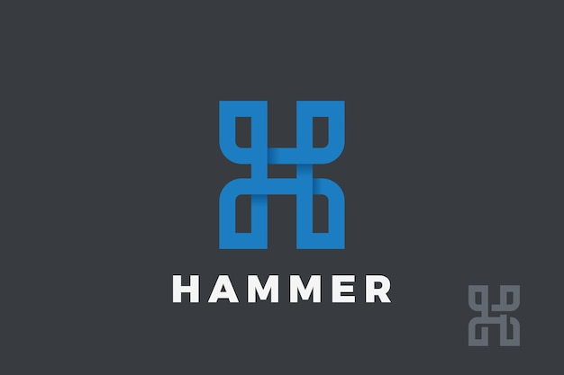 Letter h logo design. typography logotype linear style.