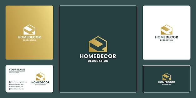 Letter h with house combine logo design for home decoration and renovation
