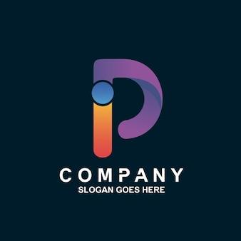 Буква i и p логотип