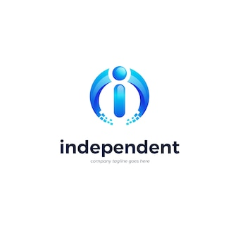 Шаблон логотипа i