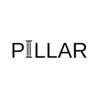 Letter i pillar logo design inspiration