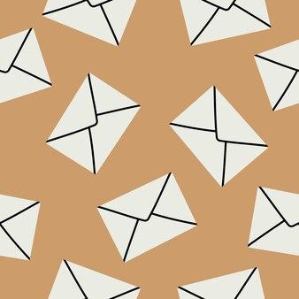 봉투 원활한 패턴에 편지