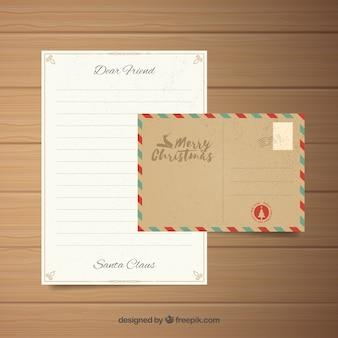 봉투 빈티지 템플릿에 편지