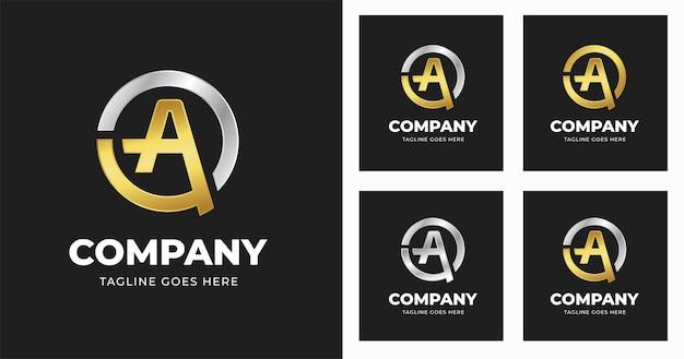 Буква начальная шаблон дизайна логотипа в стиле формы круга