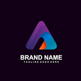 Letter a initial logo design