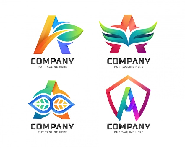 Letter initial a logo template for company
