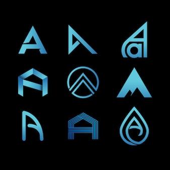 Letter a initials modern logo design