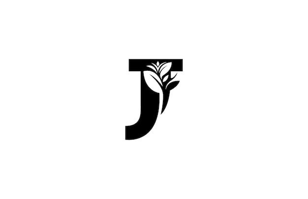 Буква j цветочные вензеля вектор