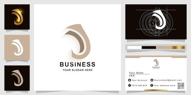 Letter j or jj monogram logo template with business card design