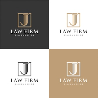 Letter j law firm, law office, lawyer services.