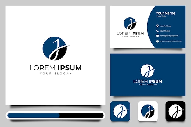 Letter j logo creative design and business card template