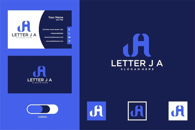 Letter j a logo design and business card
