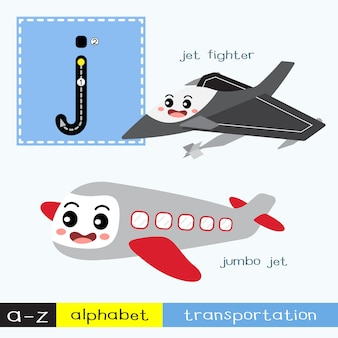Letter j lowercase tracing transportations vocabulary