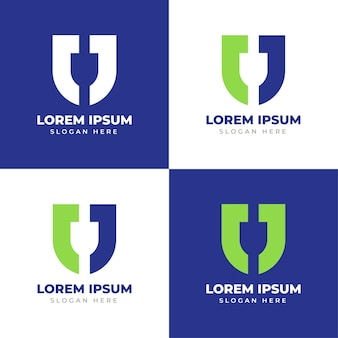 Letter j monogram logo creative j letter shield logo template