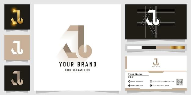 Letter j or a monogram logo with business card design